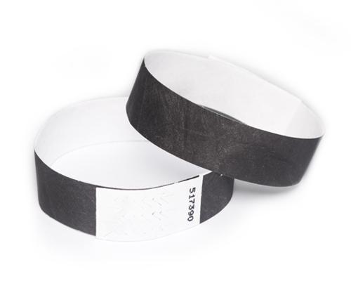 Black бумажные браслеты