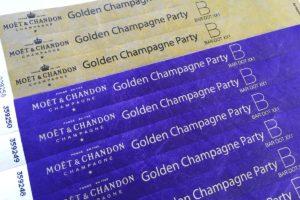 контрольные бумажные браслеты с нанесением надписи золотым цветом купить в минске